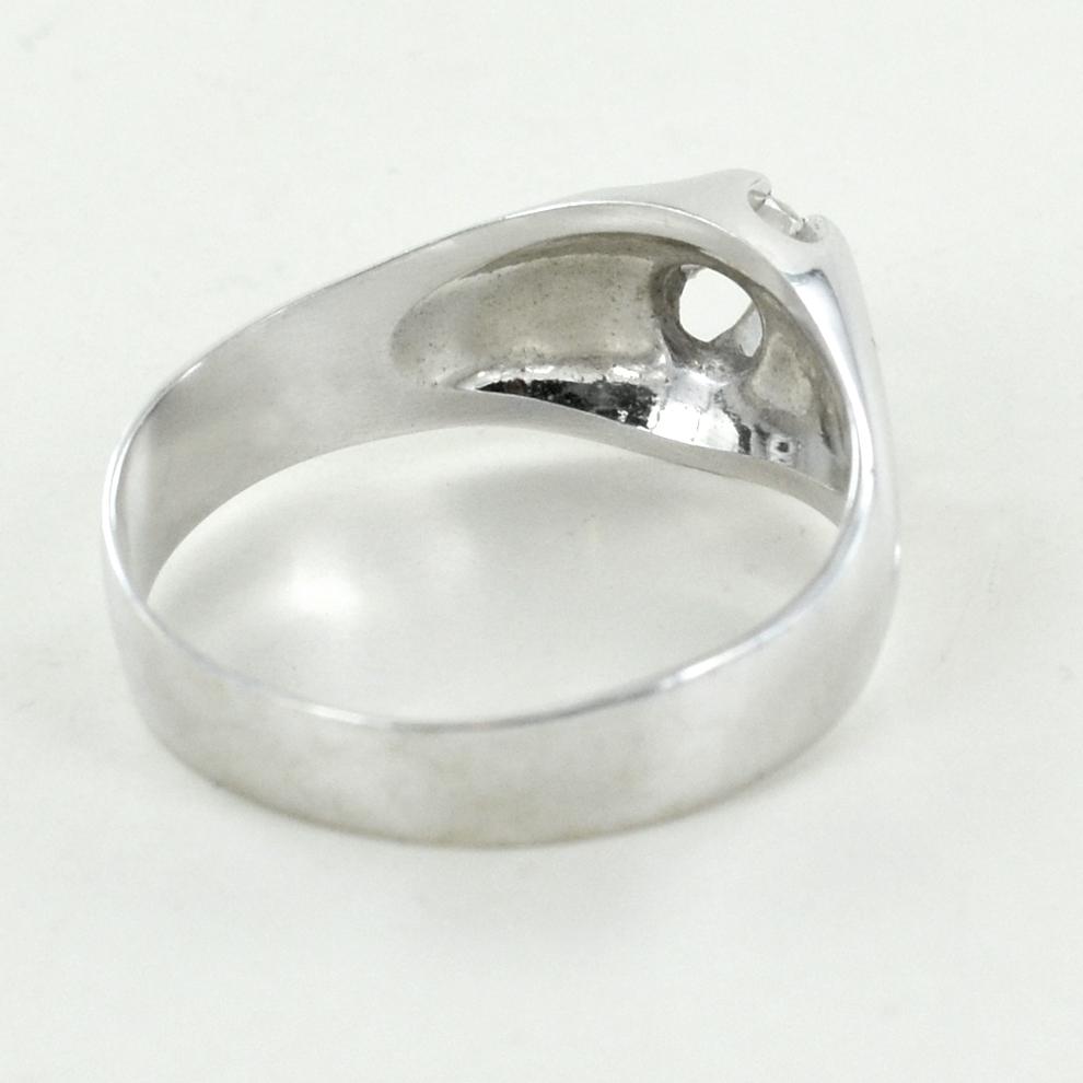 l'atteggiamento migliore c85d3 71ce3 Anello uomo in oro bianco e diamante | Gioielloro.it - La ...