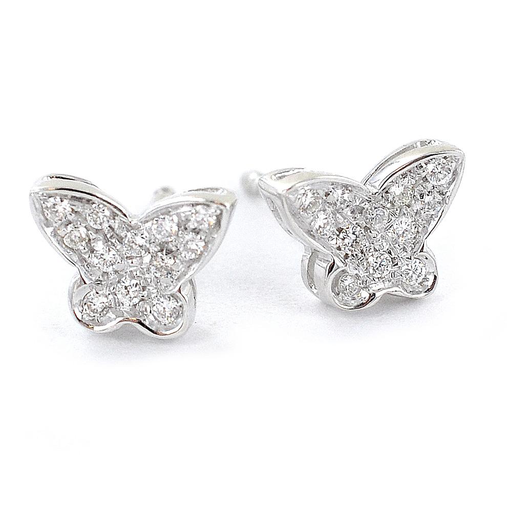 varietà di stili del 2019 vero affare scarpe da skate Parure collana orecchini con farfalle di diamanti Grace ...